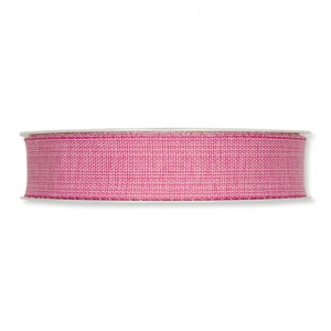 12 127 35 - Efco Deco Ribbon Cotton Optics - Bright Pink