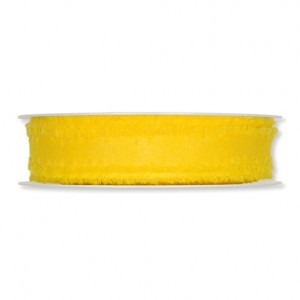 12 129 08 - Efco Deco Ribbon Fringe - Yellow, 100% Polyester, 18mm