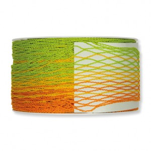 Efco Deco Ribbon Fringe - Yellow Orange Light Green, 83% polyester 17% polyamide, 40mm