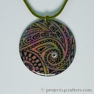 Stamped Efcolor Pendant