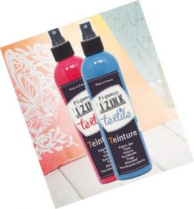 I-ZINK pigment based spray dyes from efco